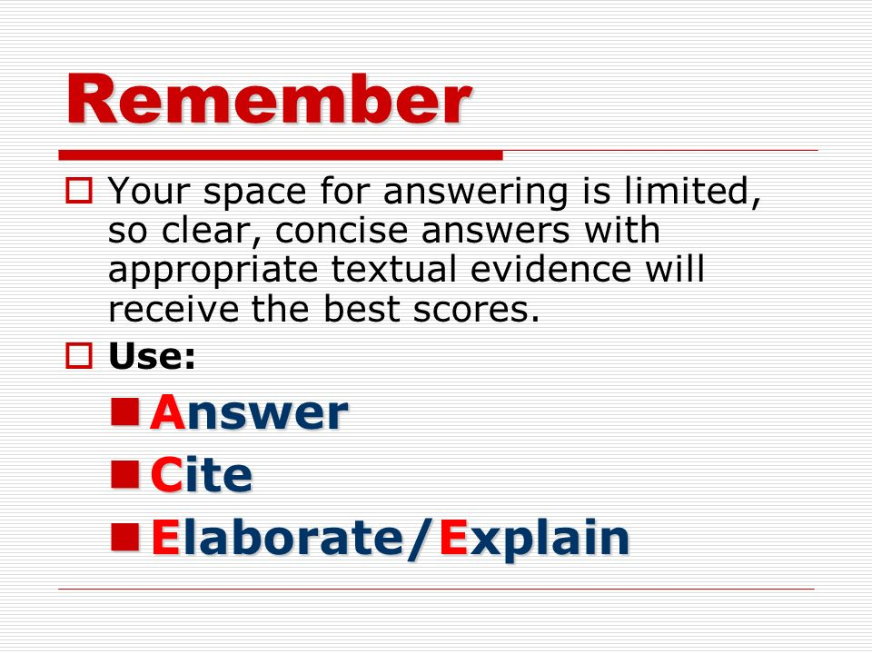 ACE Method: Writing a GREAT Short Answer Response! - ppt download