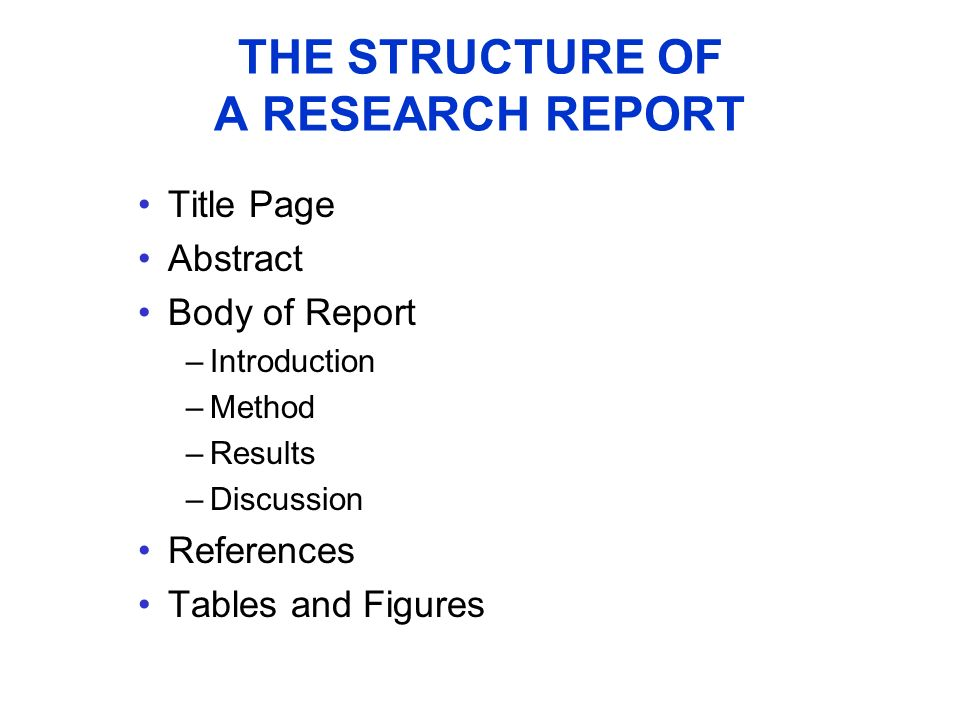 research report abstract