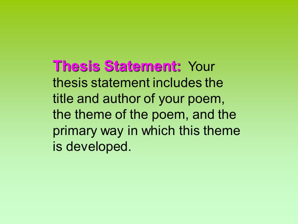 compare and contrast poems thesis statement His poems i, too and theme for you just finished sample compare and contrast essay sample thesis statements sample compare and contrast essay.