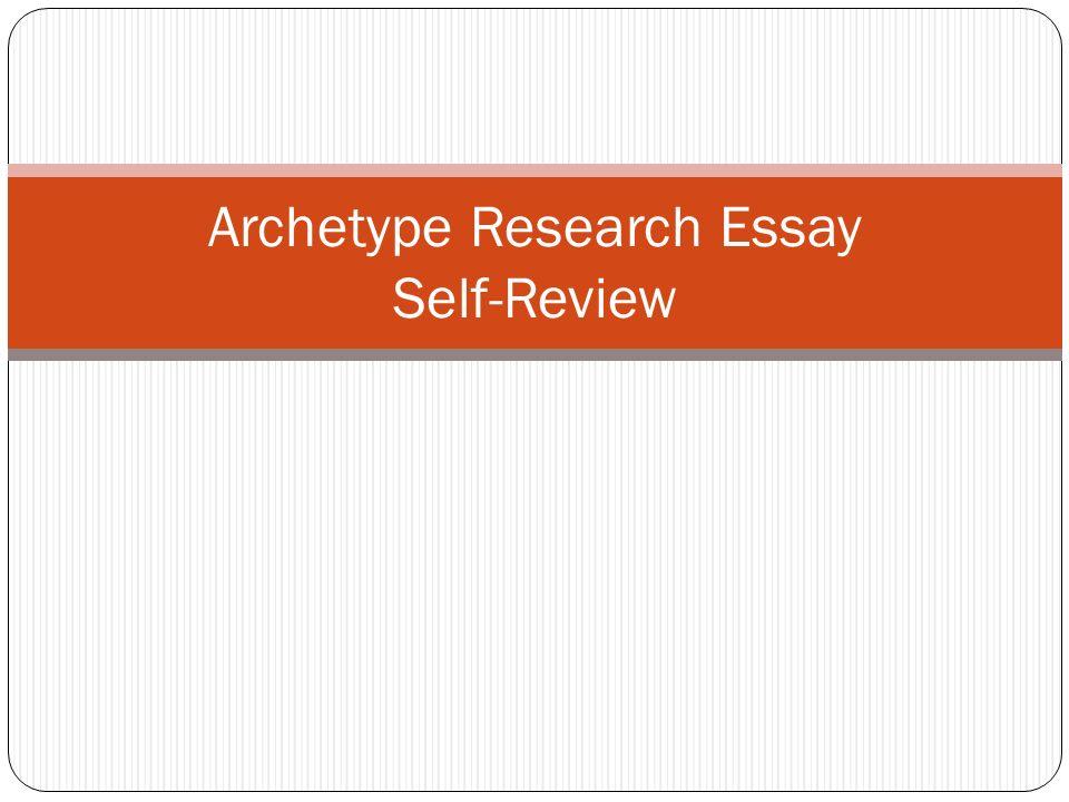 essay on archetype