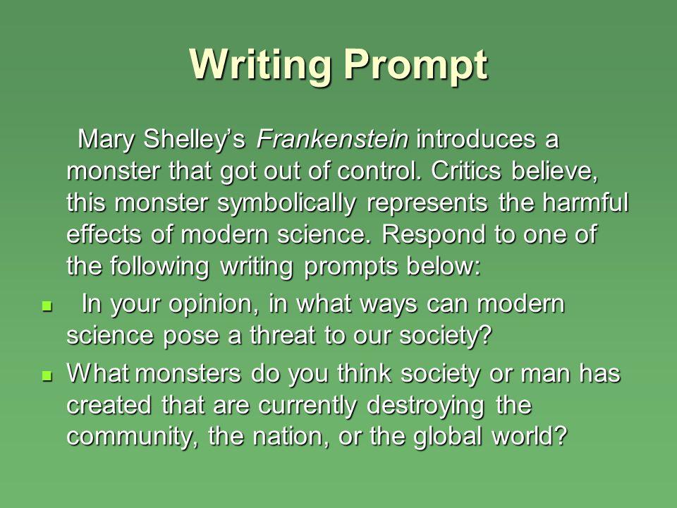 Essay prompts for frankenstein