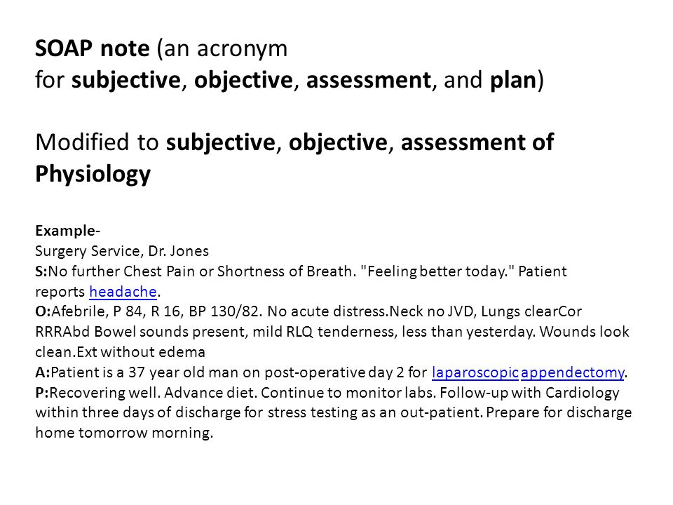 Soap Note Example. Sample Soap Note From Ehr 15 Soap Note Examples