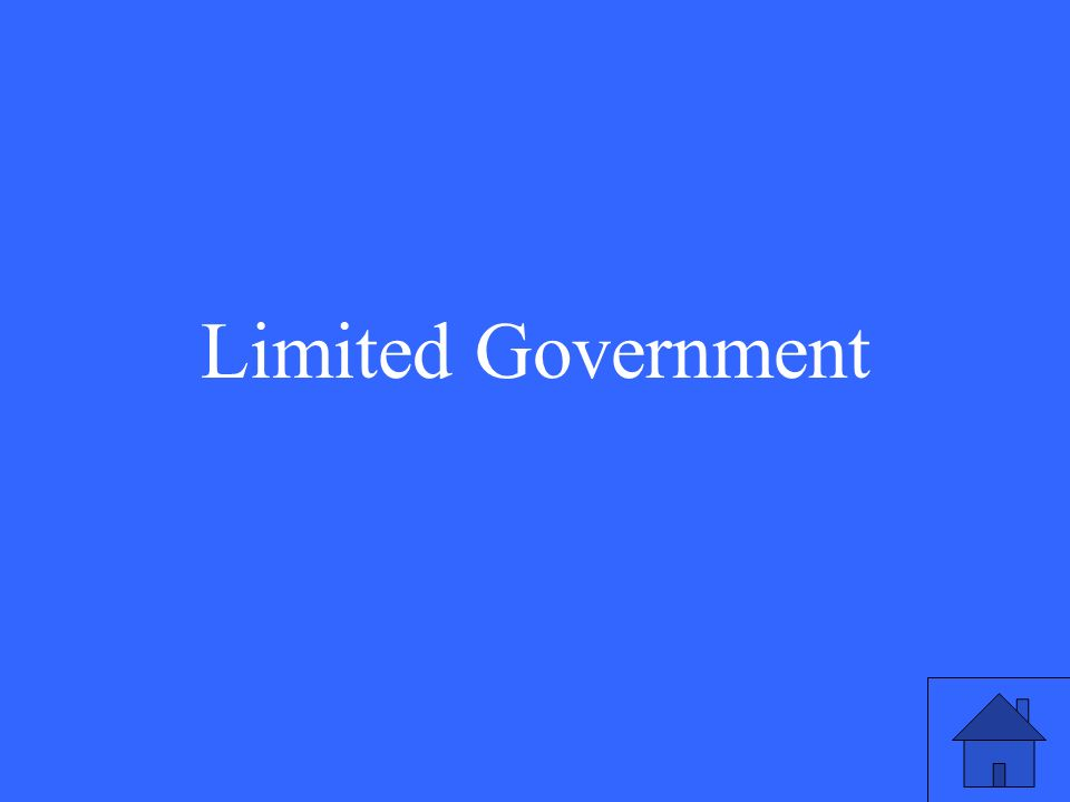 31 Limited Government