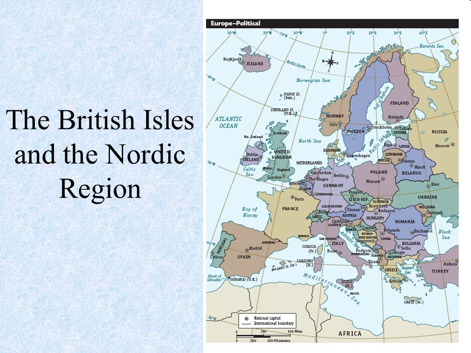 British Isles And Nordic Region Map Work Pgs - Norway england map