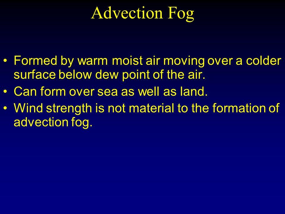 Chapter 09 Fog Formation Lesson 30/31 Types of Fog Radiation Fog ...