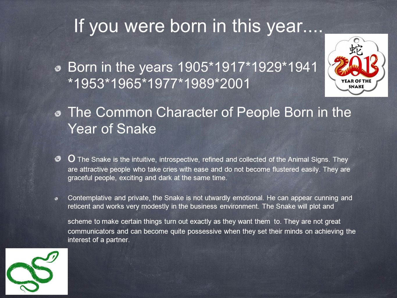 if you were born in this year - Chinese New Year 1989