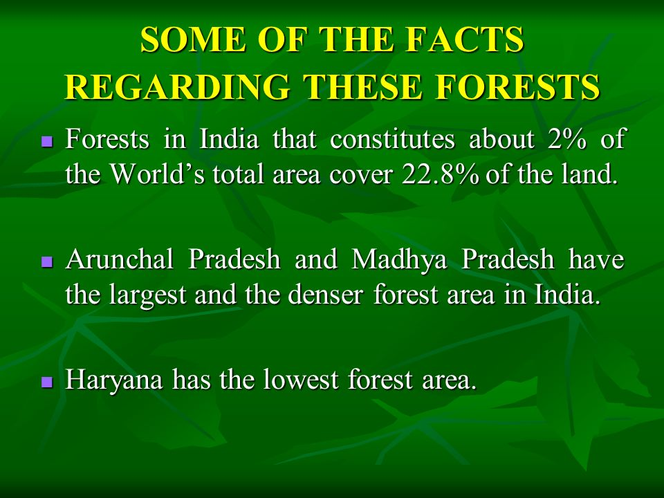 CONSERVATION OF FORESTS 1. Nationalization of forest operations 2.