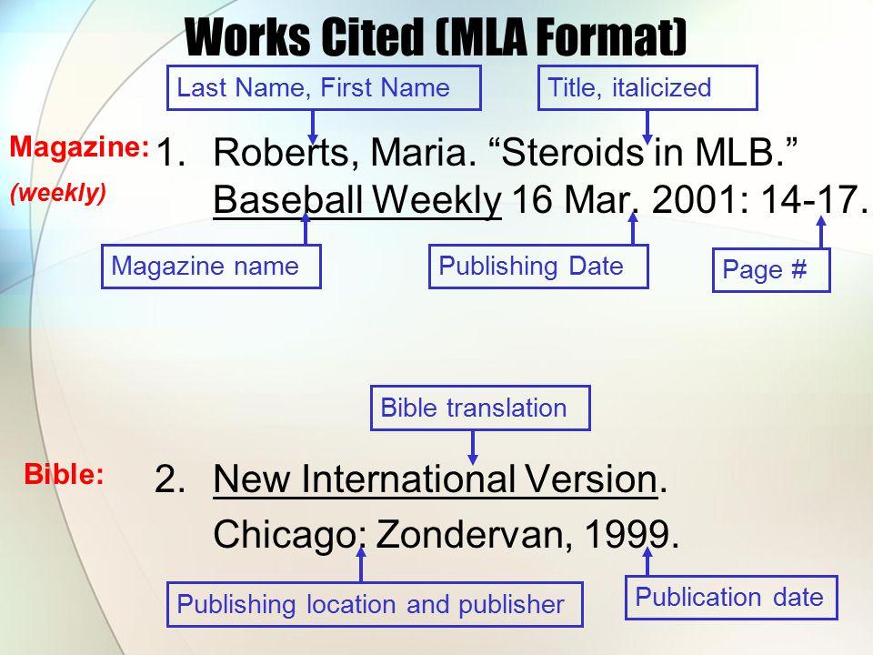 works cited argumentative