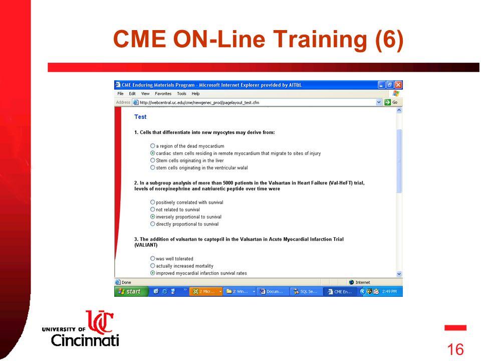 16 16 CME ON-Line Training (6)