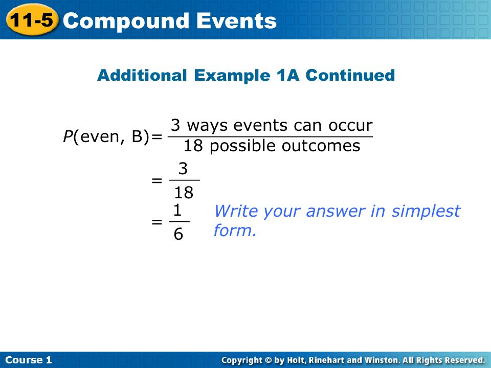 6 th Grade Math HOMEWORK Page #9 and #14-15 Course Compound Events ...