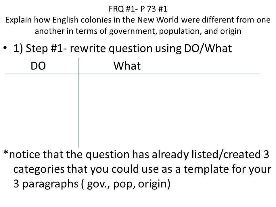 Please help explain this essay question?