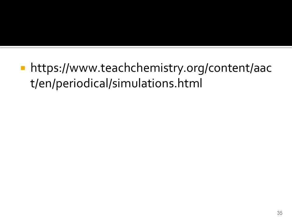 https://www.teachchemistry.org/content/aac t/en/periodical/simulations.html 35