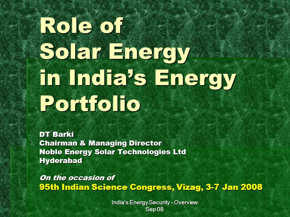 india's outlook towards energy security India's demographic outlook: implications and even international security economic and strategic challenges and opportunities india's energy policy and.