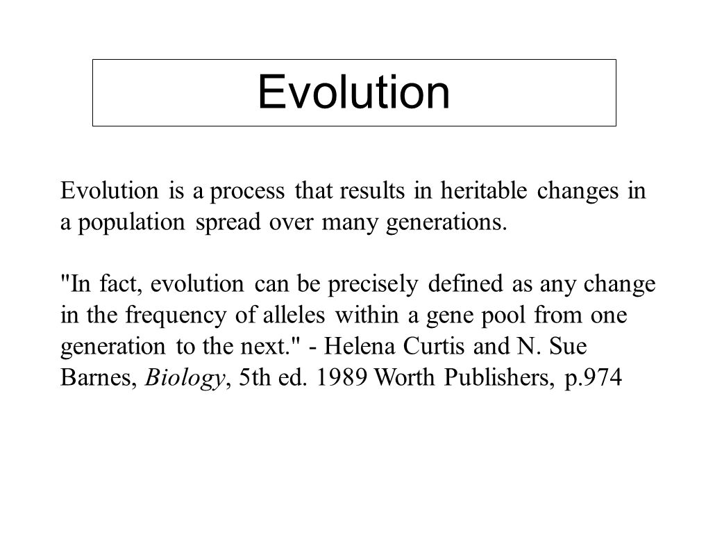 Evolution Definition Biology