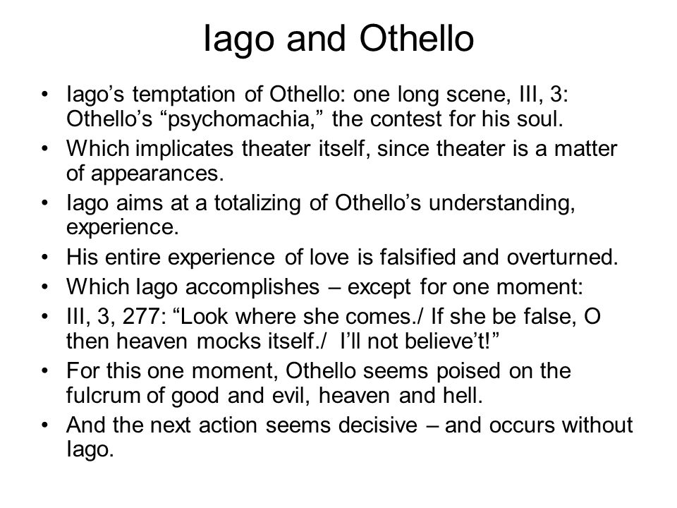 an essay about othello themes