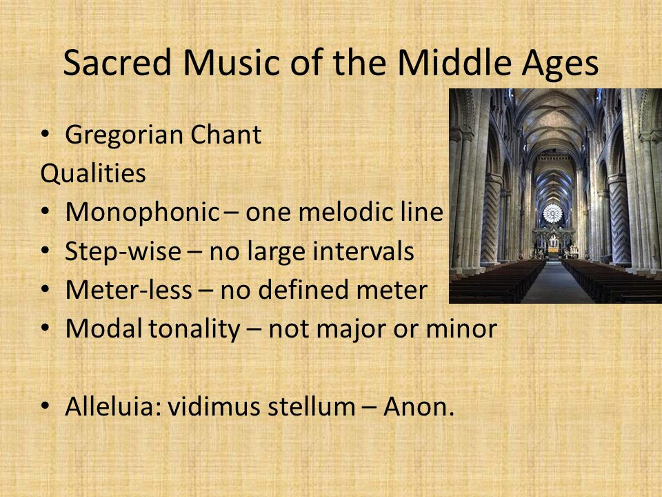 Music in the Middle Ages and the Renaissance. The Middle Ages ...