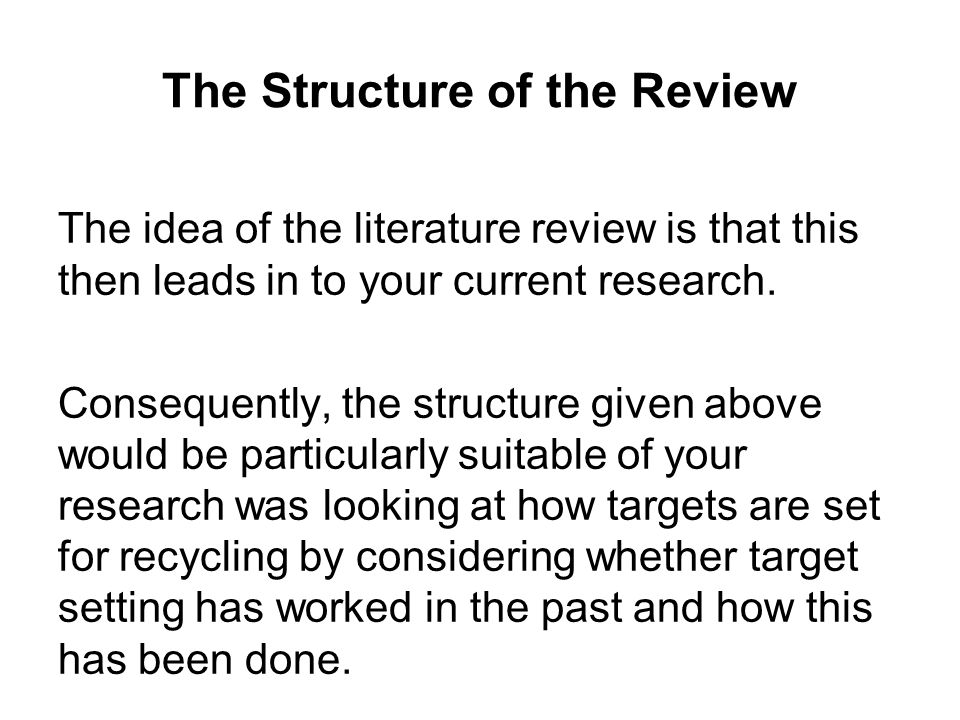 structure of a critical review essay