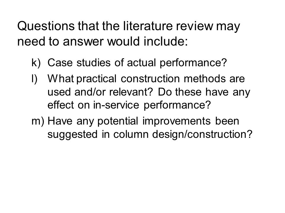 Literature review of project
