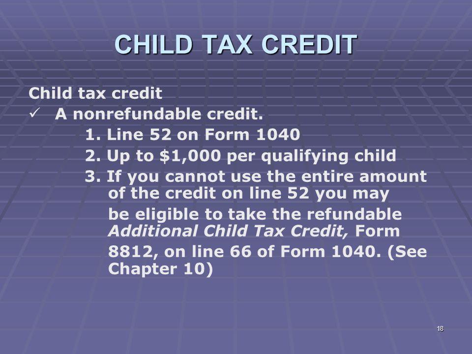 Additional Child Tax Credit Worksheet 2008 1 liberty tax service – Additional Child Tax Credit Worksheet