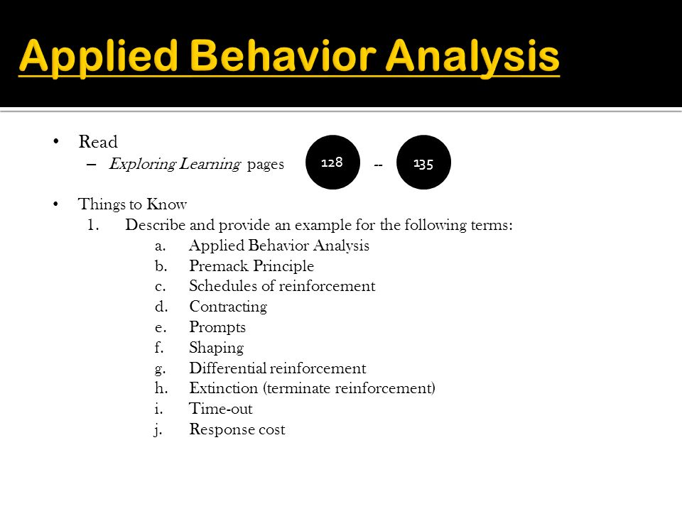 Spring 2011 Dr S Smith During Part One Of Behavioral Approaches