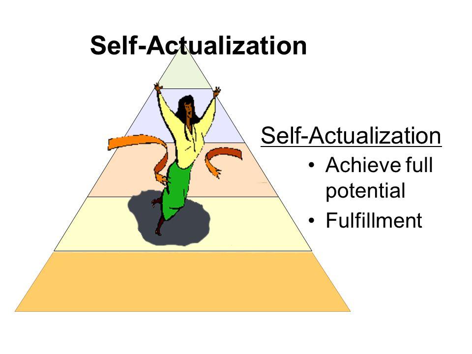 Self-Actualization Achieve full potential Fulfillment Self-Actualization