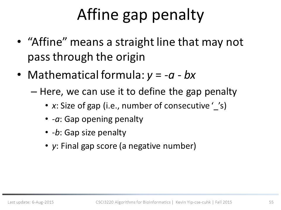 affine gap penalty bioinformatics