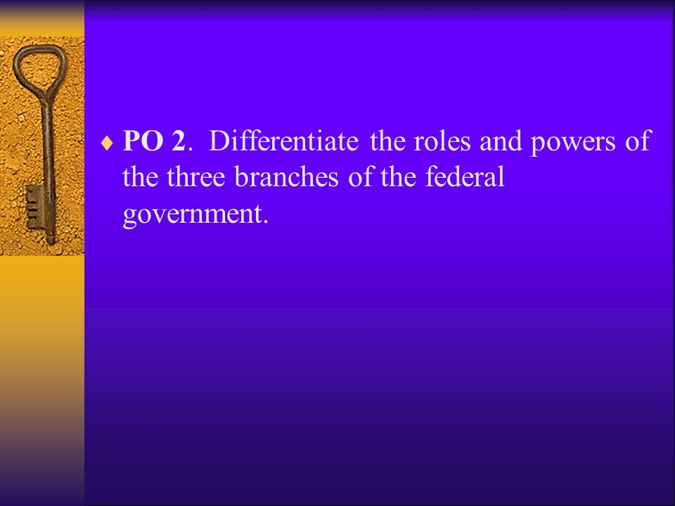  Concept 2: Structure of Government  PO 1.