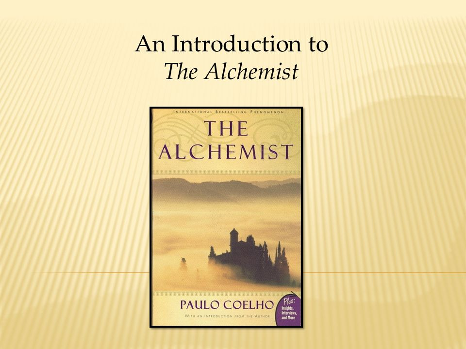 an introduction to the alchemist  fully describe a goal or  1 an introduction to the alchemist