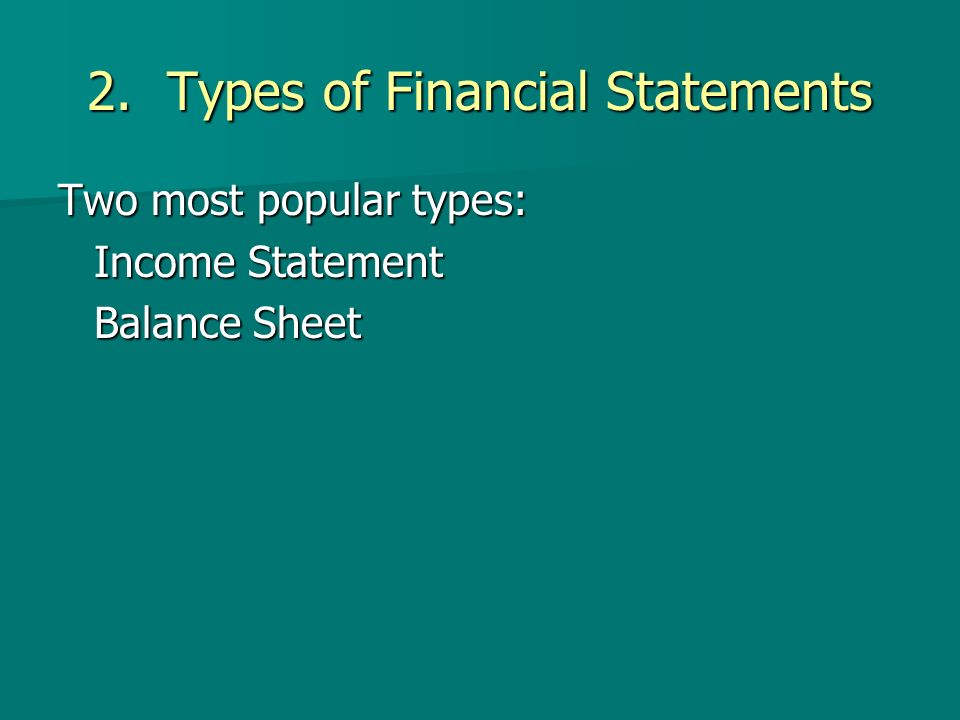 Lesson  Financial Statements Objectives Define The Components