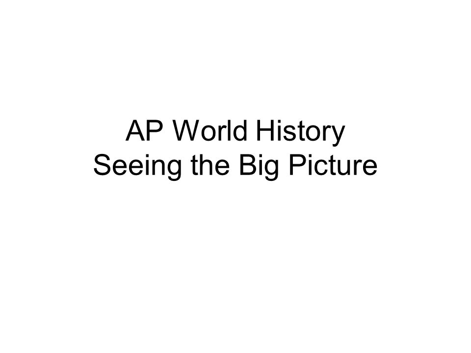 How to pass the World History Ap Exam?