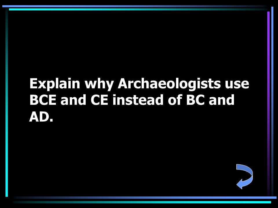 Explain why Archaeologists use BCE and CE instead of BC and AD.