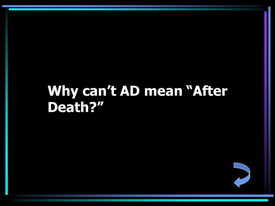 Why can't AD mean After Death