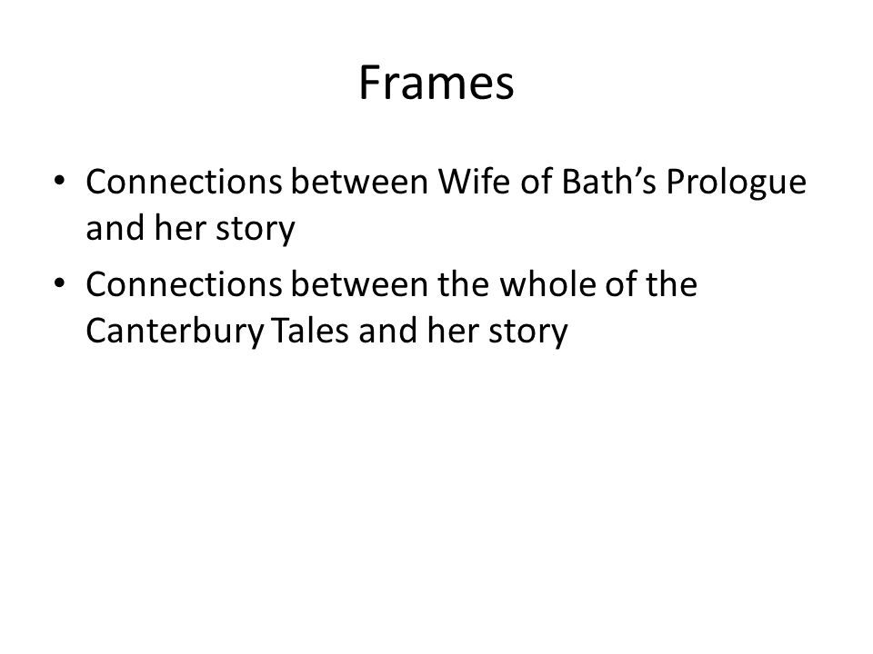 the wife of baths prologue essay