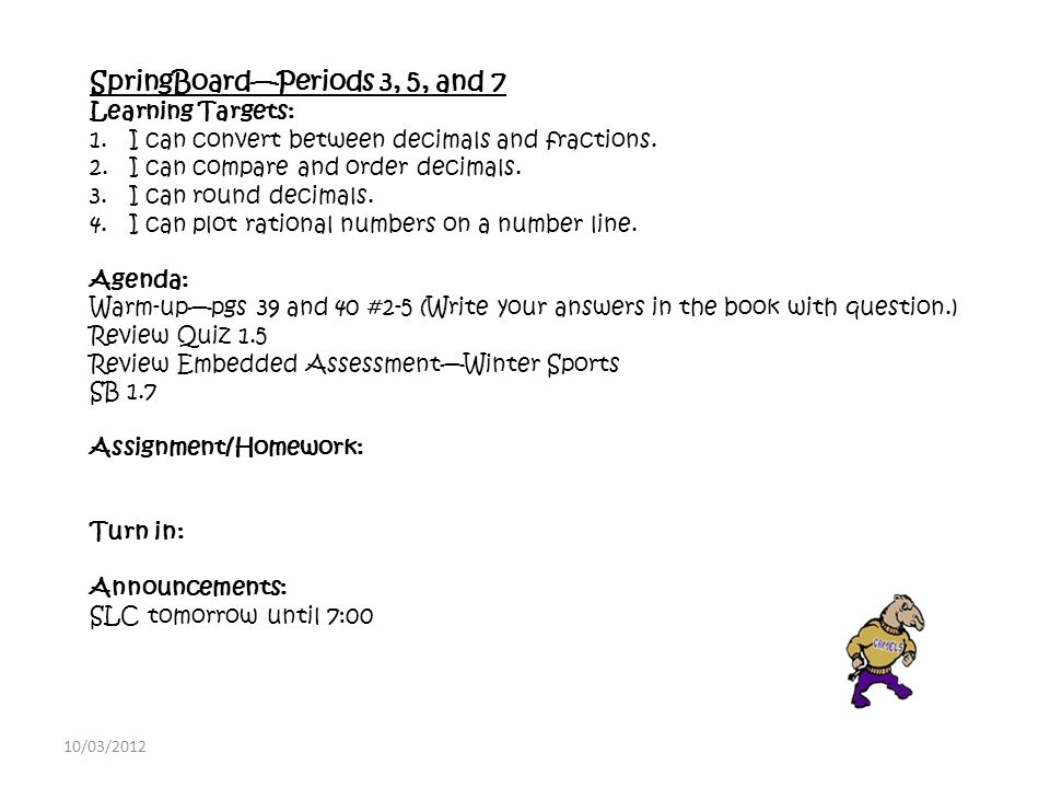 Math Lab—Periods 1 and 6 Learning Targets: 1.I can simplify ...
