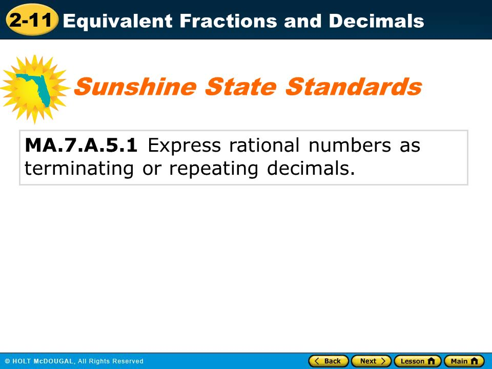 math worksheet : 2 11 equivalent fractions and decimals warm up warm up lesson  : Decimal Of The Day Worksheet