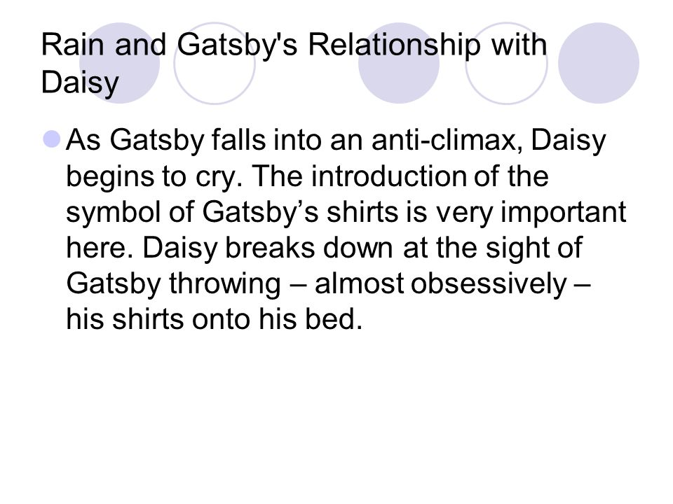 relationship between gatsby and daisy essay Join now log in home literature essays the great gatsby daisy buchanan in the daisy that gatsby had fallen looking into the relationship between nick and gatsby.