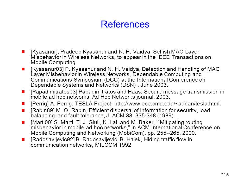 216 References  [Kyasanur], Pradeep Kyasanur and N.