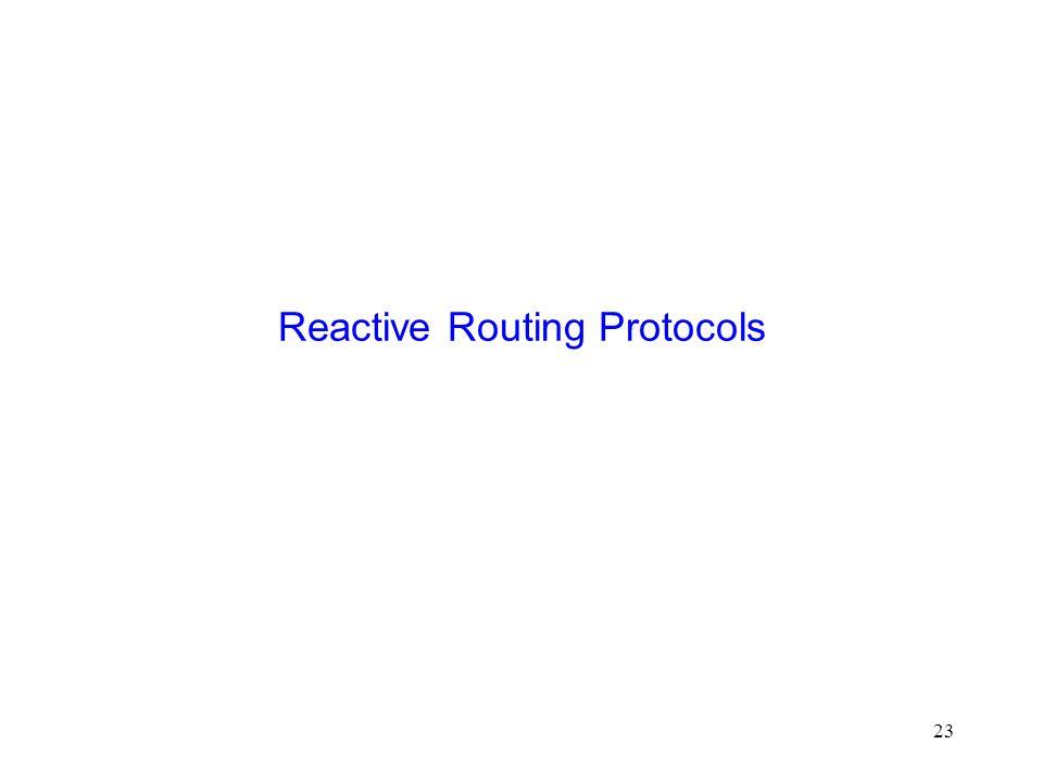 23 Reactive Routing Protocols