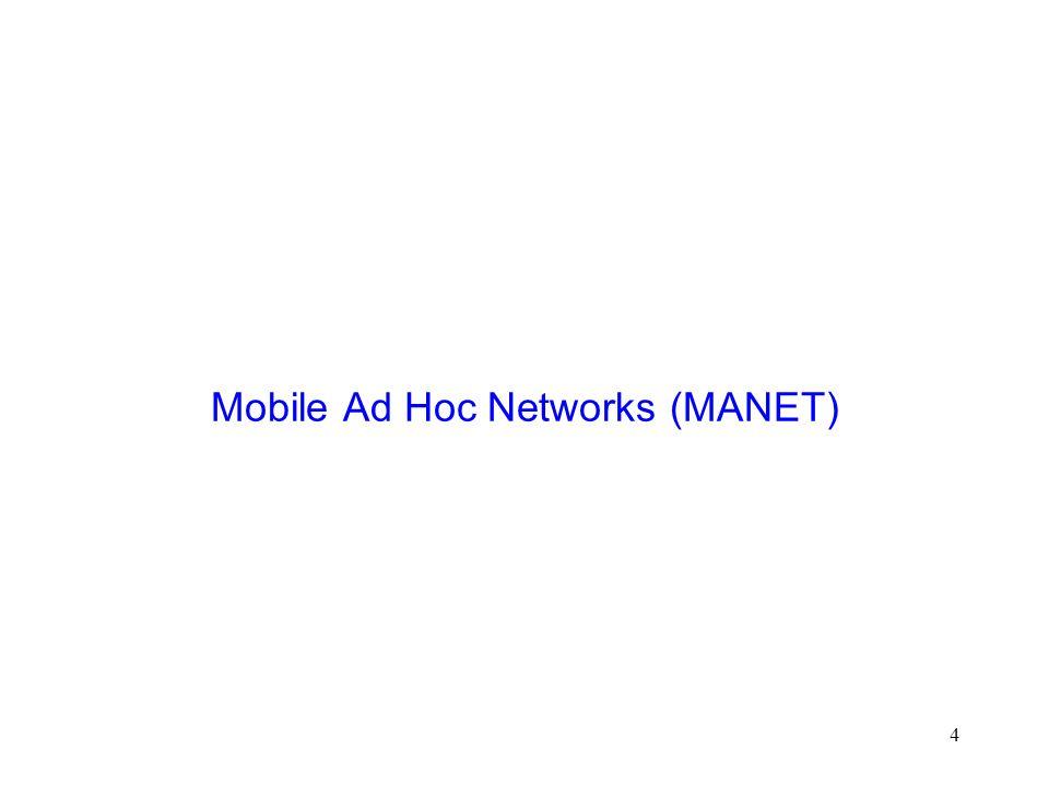 4 Mobile Ad Hoc Networks (MANET)