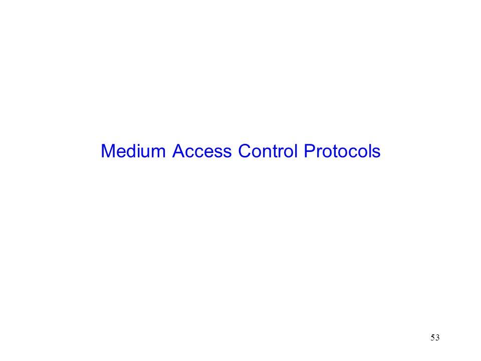 53 Medium Access Control Protocols