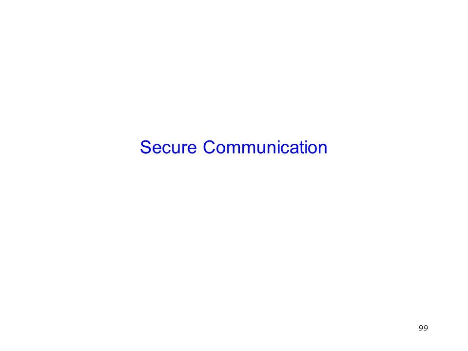 99 Secure Communication
