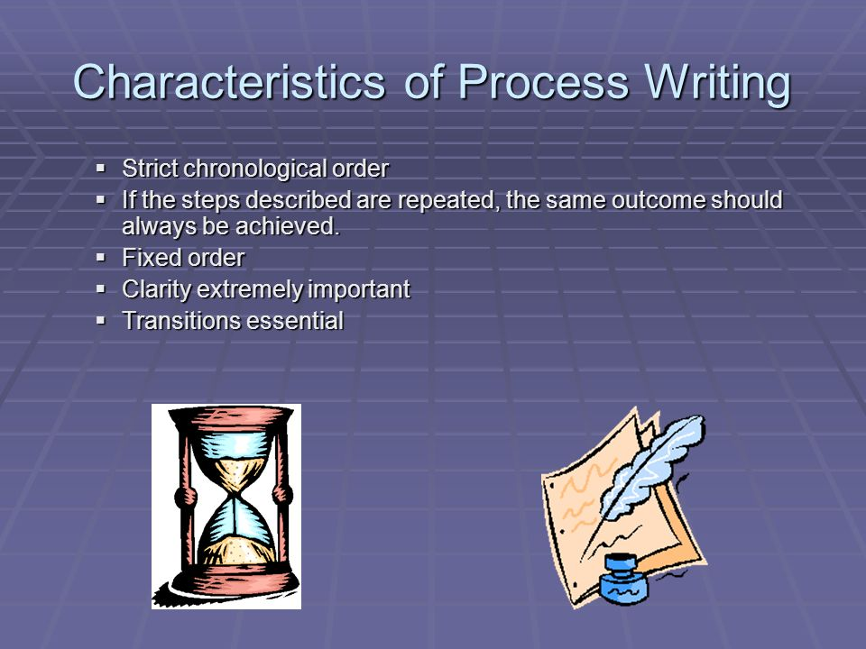Essay writing chronological order