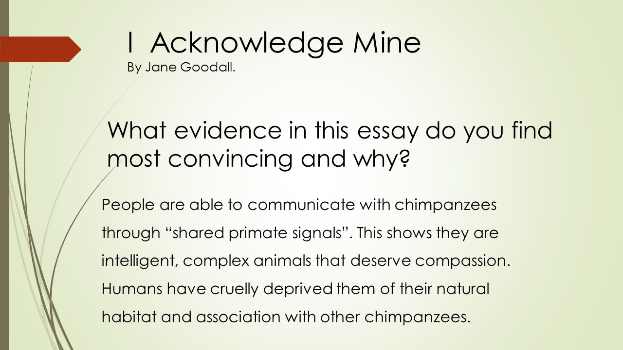 i acknowledge mine by jane goodall i acknowledge mine by jane 29 i acknowledge