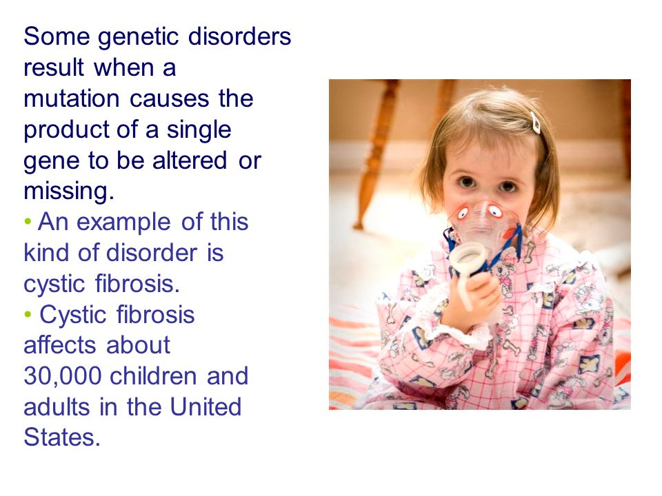 Some genetic disorders result when a mutation causes the product of a single gene to be altered or missing.