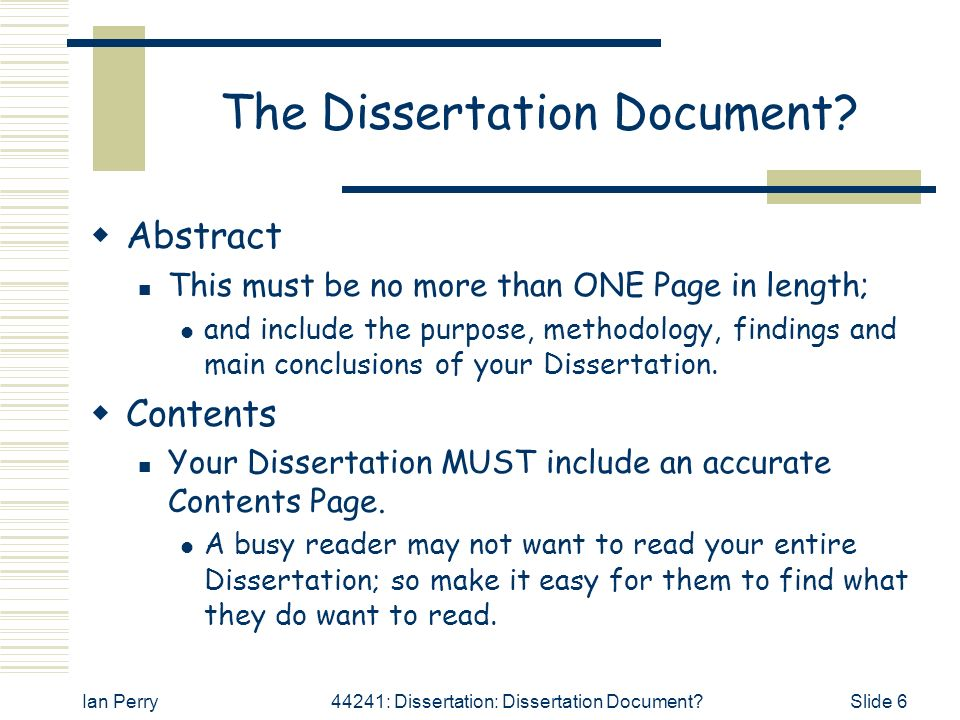 Dissertation Length Literature Review