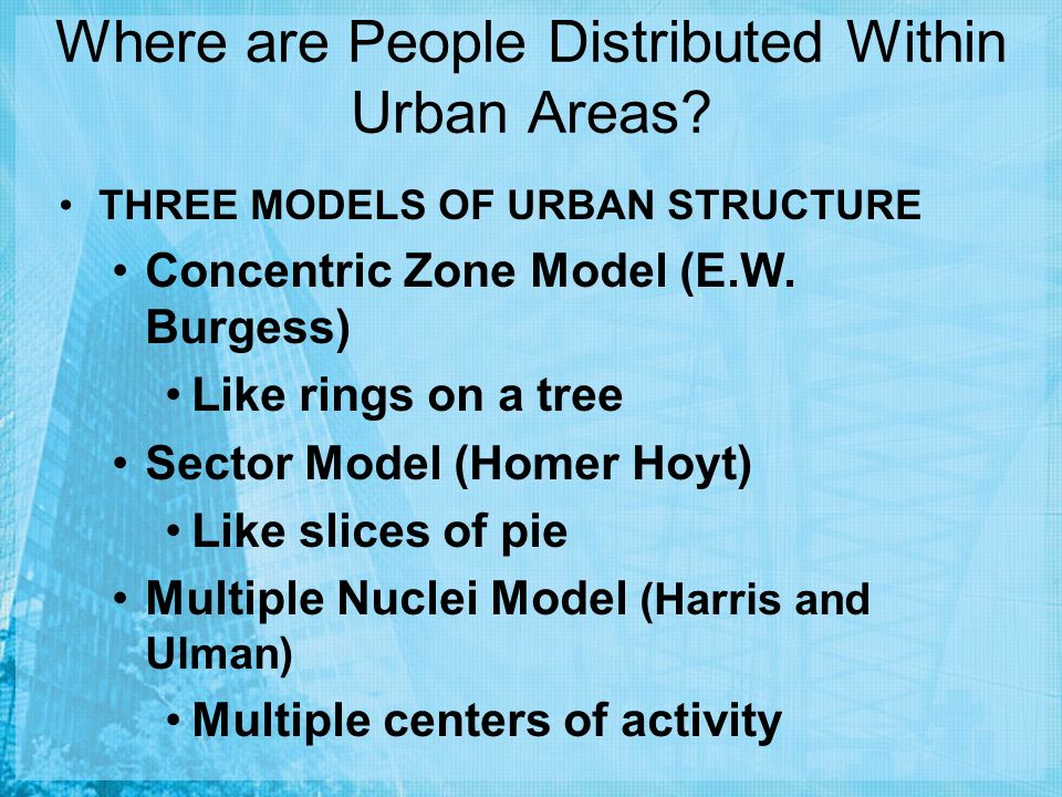 Where are People Distributed Within Urban Areas.
