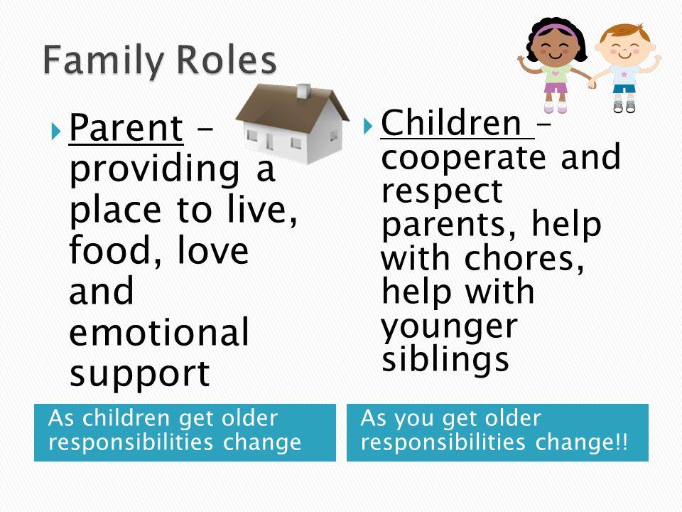 As children get older responsibilities change As you get older responsibilities change!.