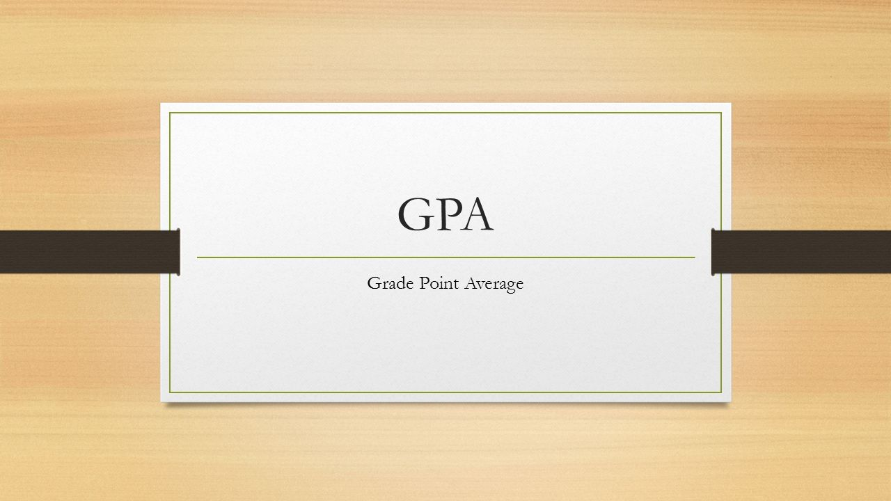 Take electives for the gpa?...?