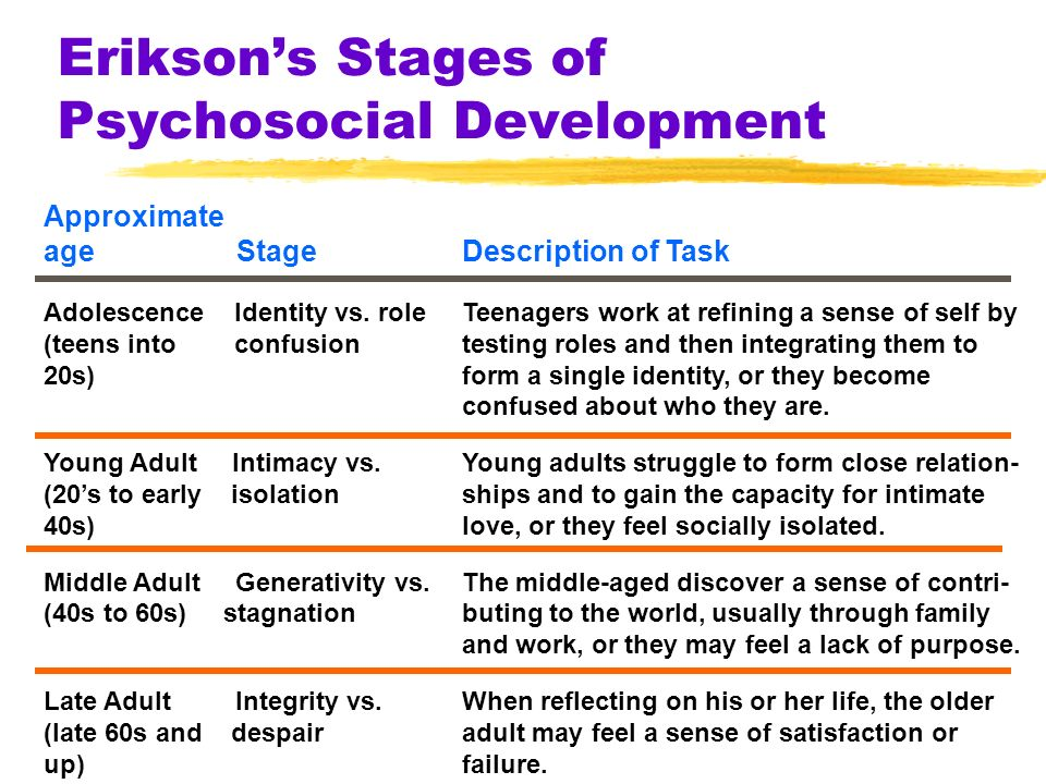 my psychosocial stage of development