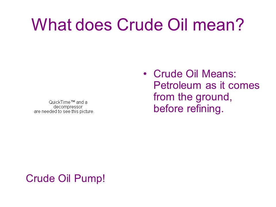 What Would Happen If We Ran Out Of Crude Oil By Cynthia